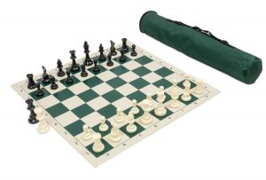 Vinyl chess mat set