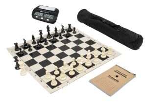 Full chess kit with roll up board